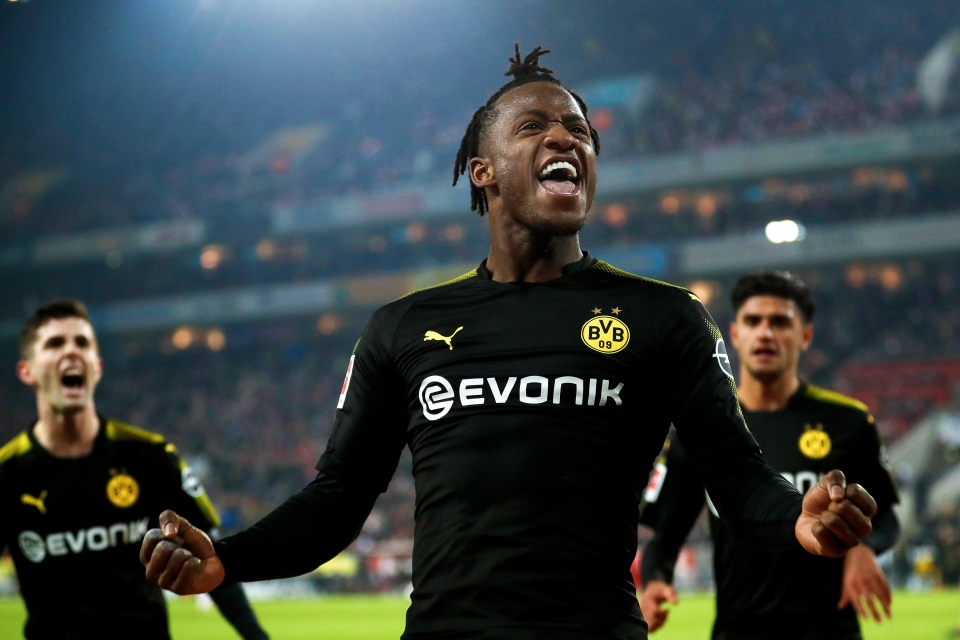 Batshuayi celebrates his debut goal