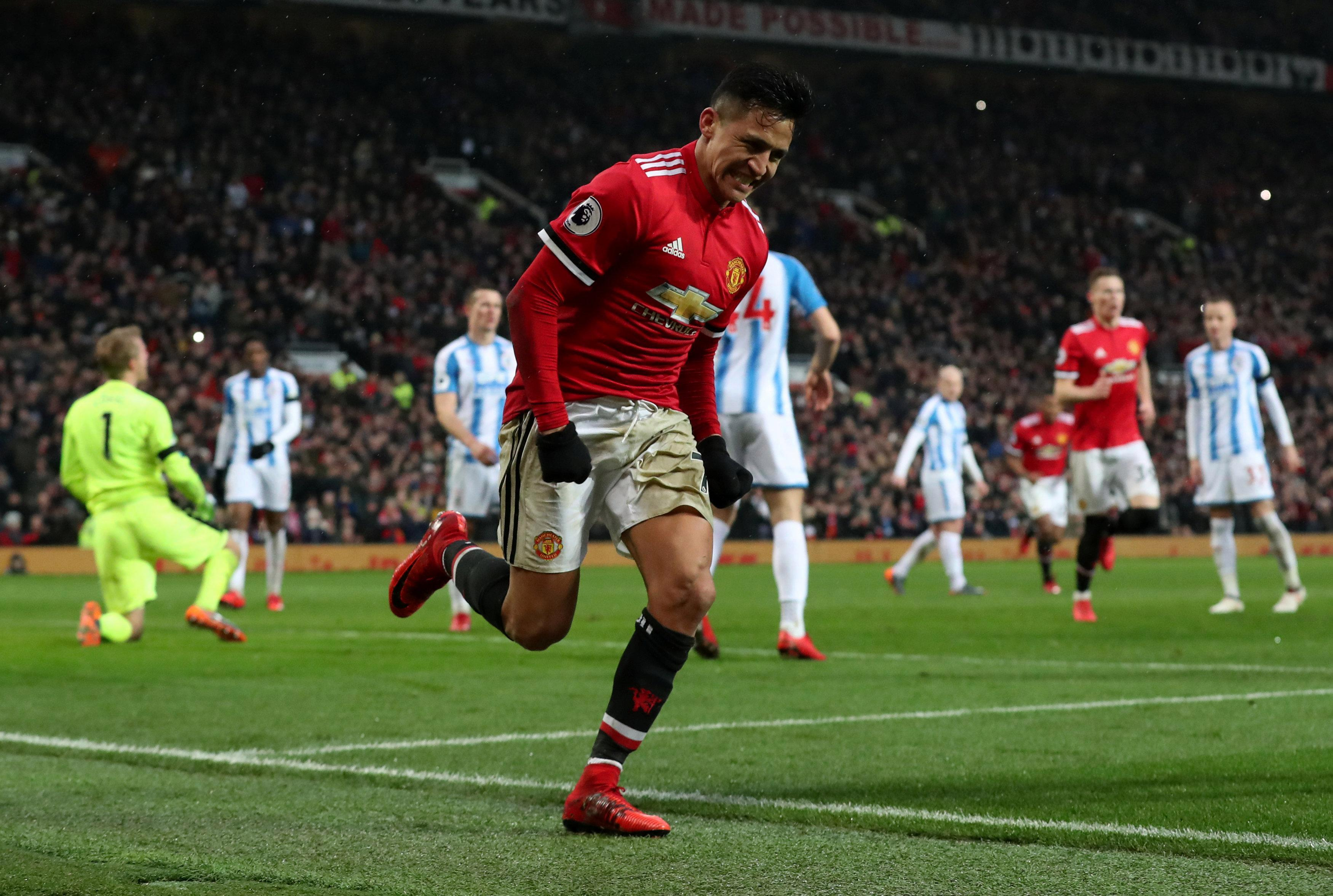 Sanchez grabbed his first United goal from a rebounded penalty