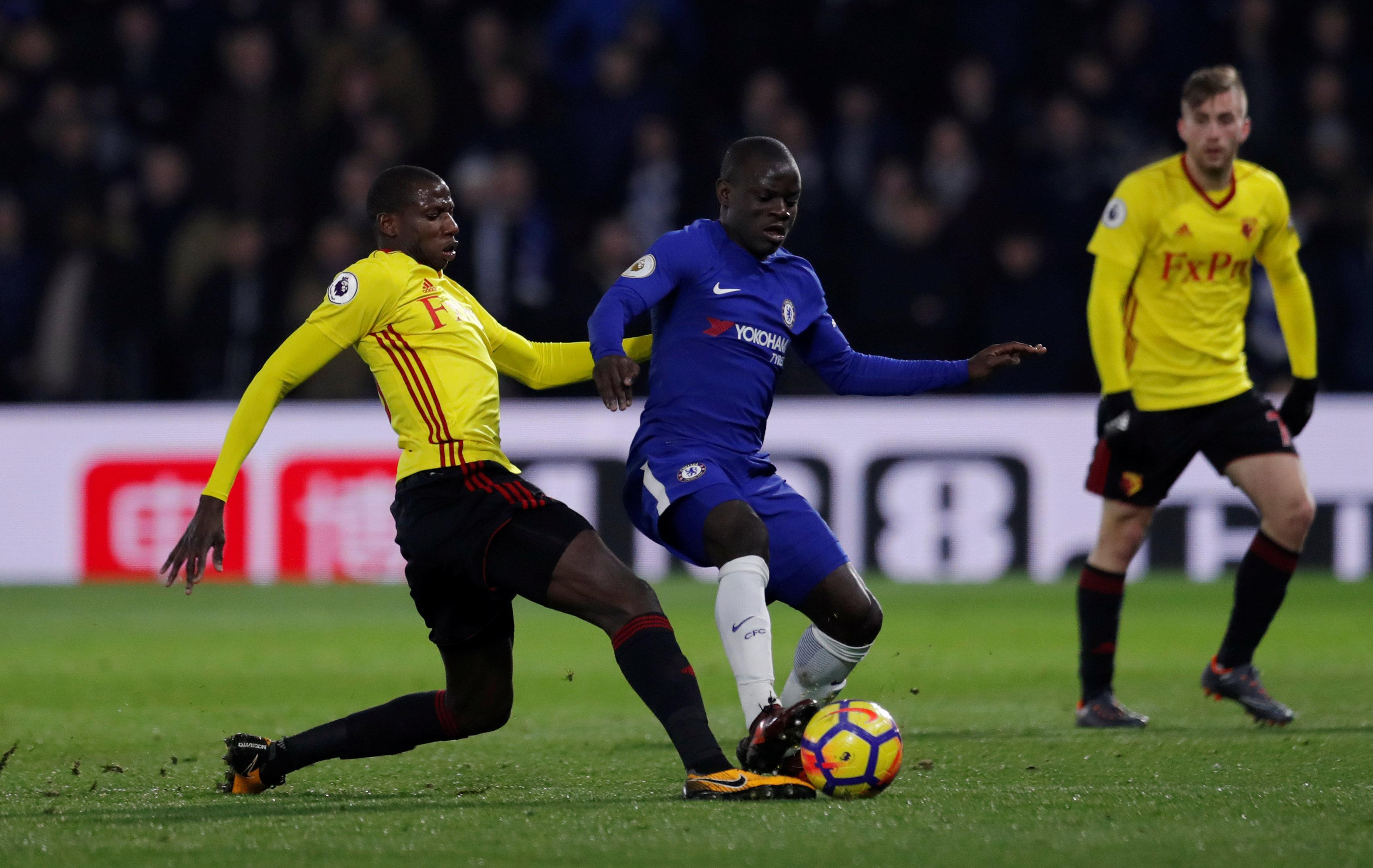 N'Golo Kante and Doucoure would be an imposing partnership