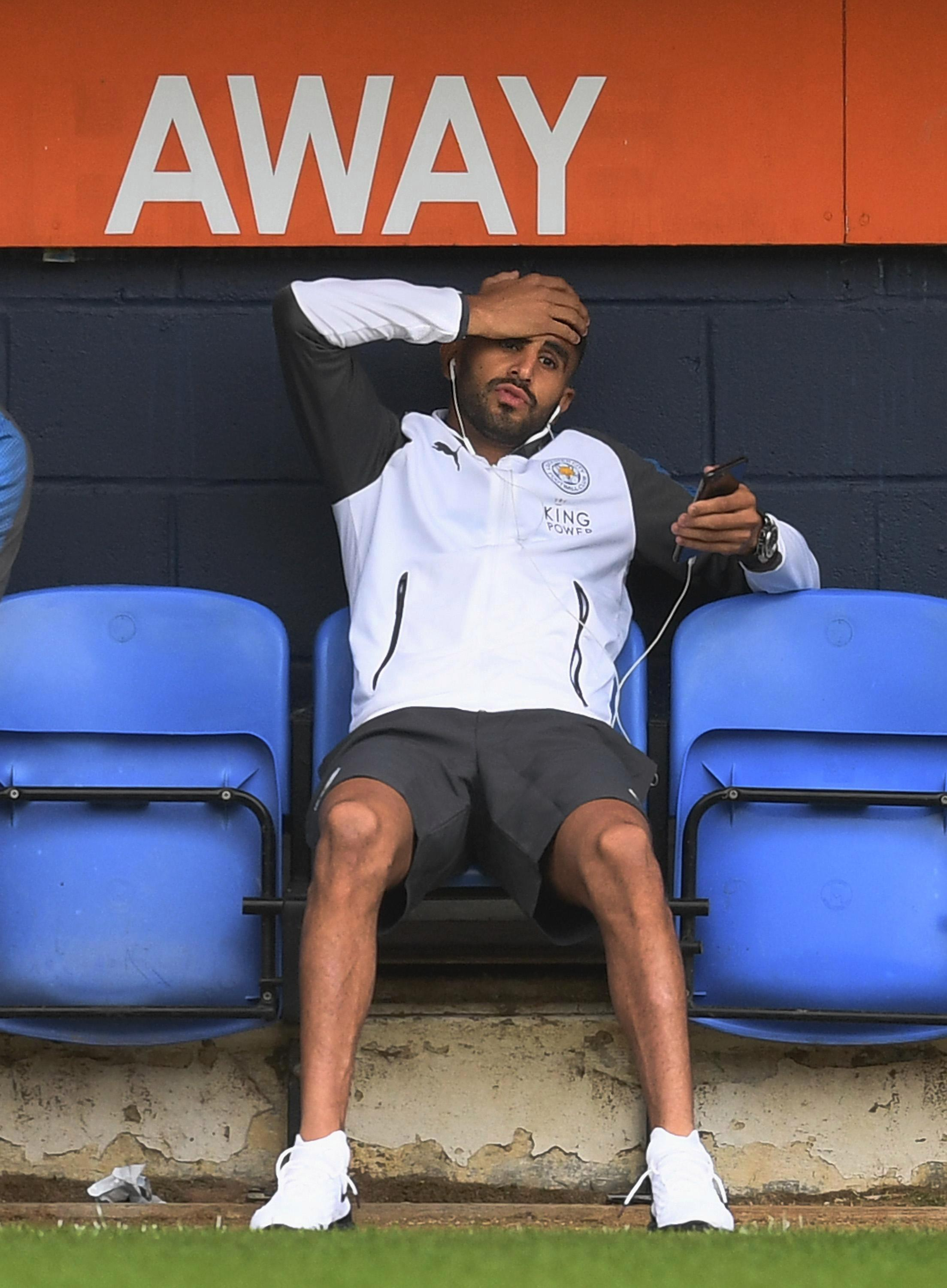 Mahrez is desperate to get away from the King Power Stadium this summer