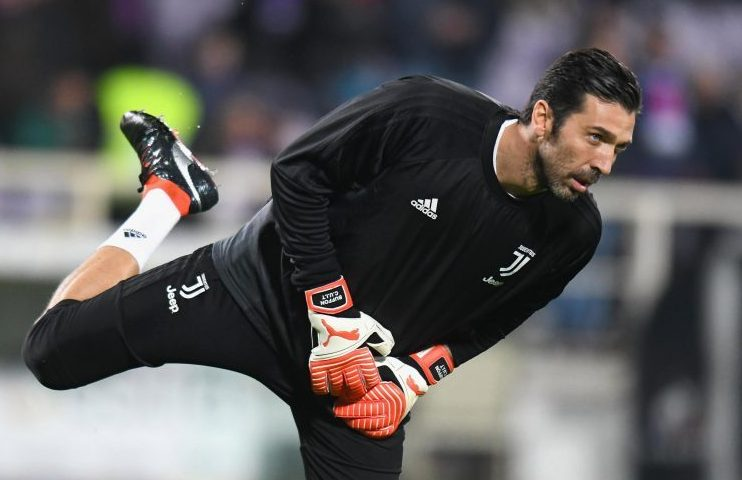 Buffon is still finding novel ways to entertain himself