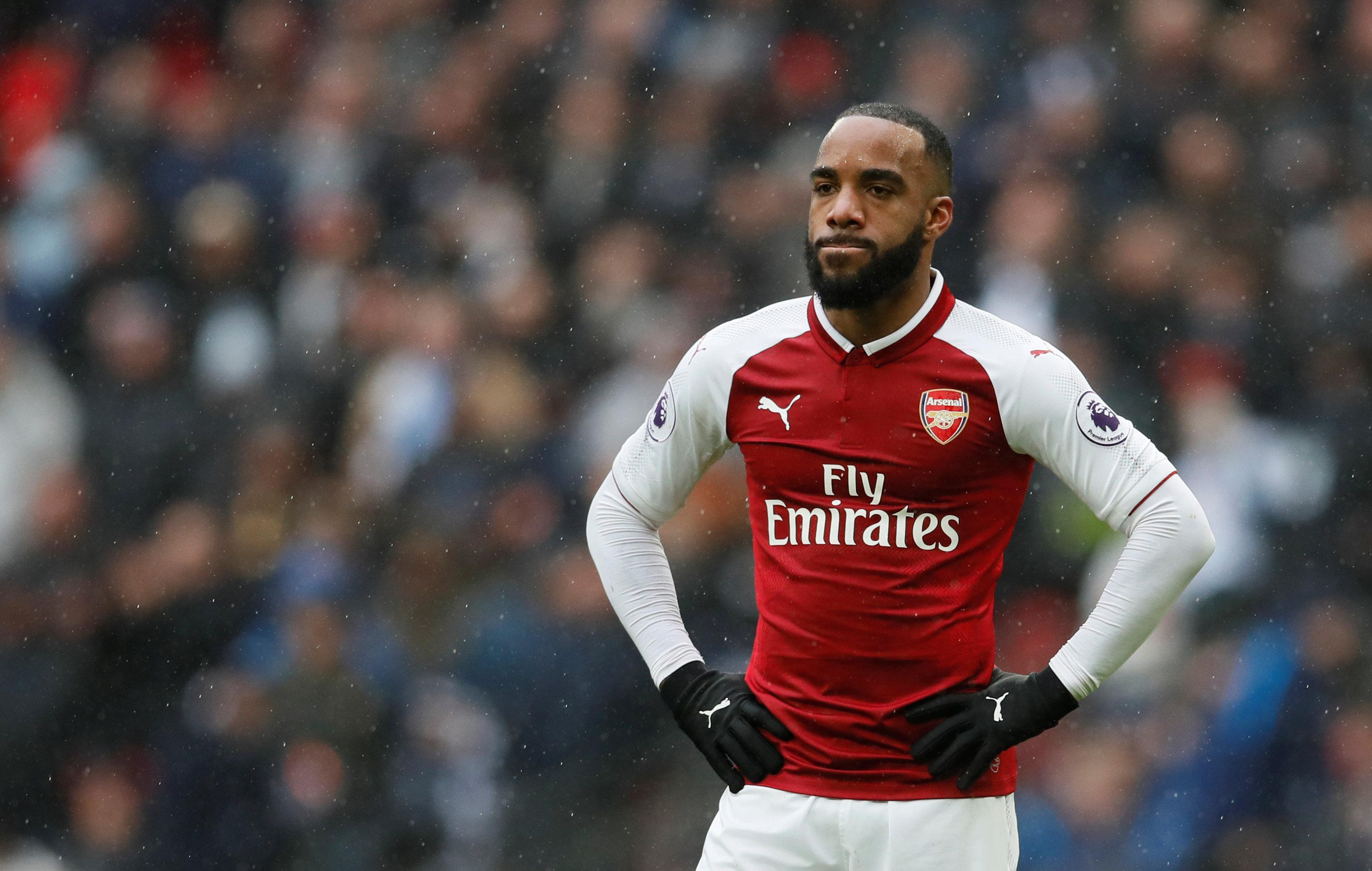 The Gunners will be relying on Lacazette up front
