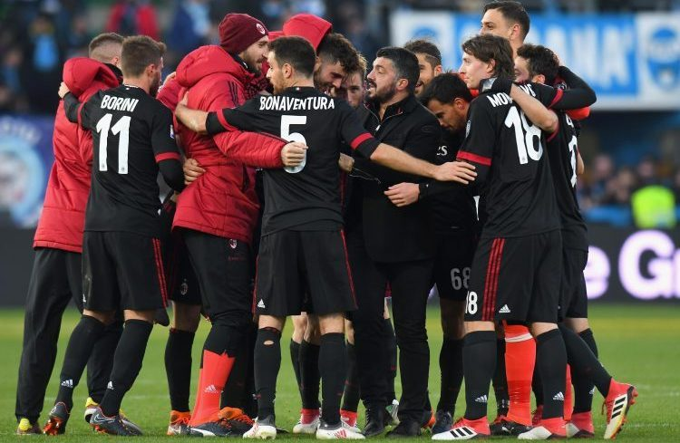 Gattuso lets the players slap him after a win to let out some steam