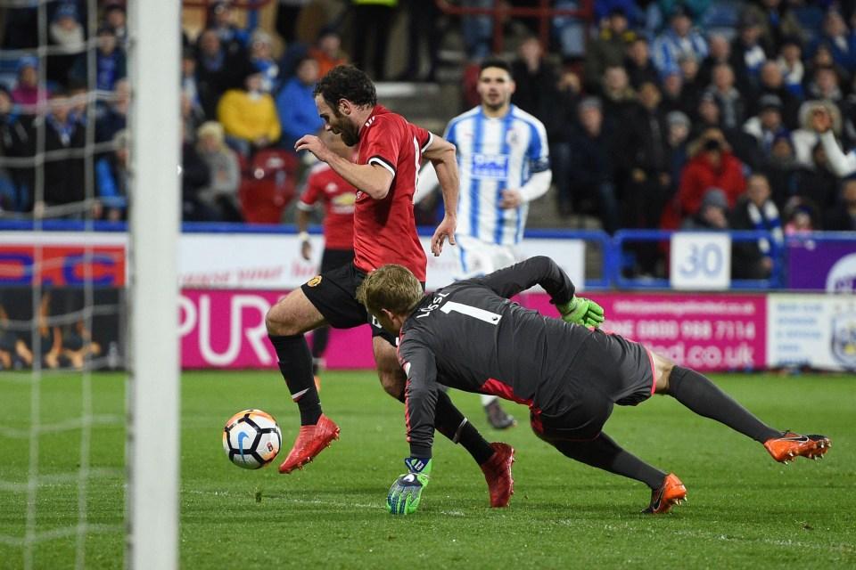 "Mata scoring the game's second ""goal"""