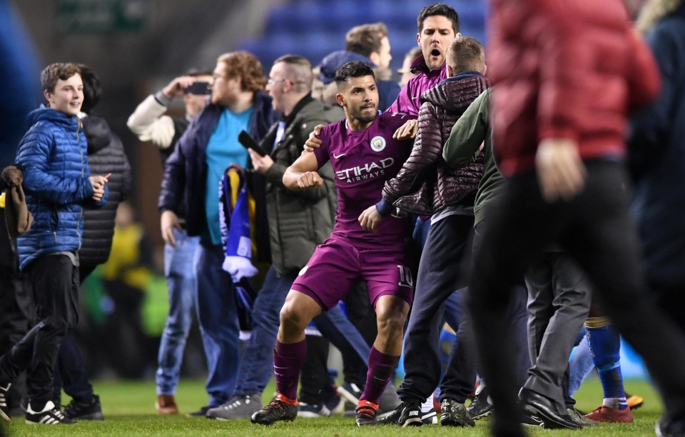 Aguero's clash with a fan