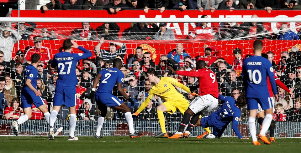 There were seven Chelsea players in the box as Lukaku strolled through for a goal