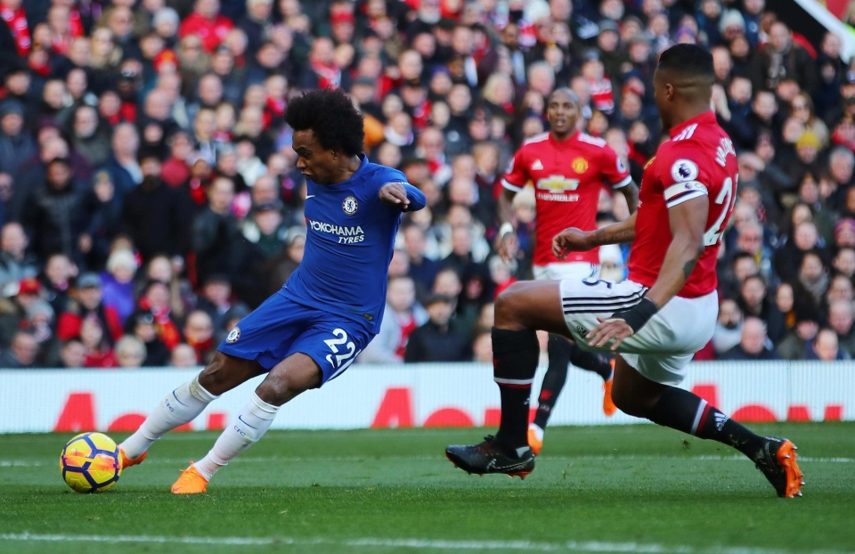 Willian continued his excellent form with a venomous strike