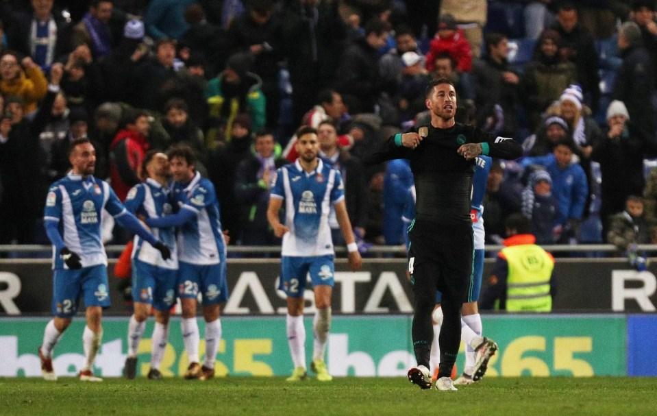Ramos could barely believe Espanyol's winner