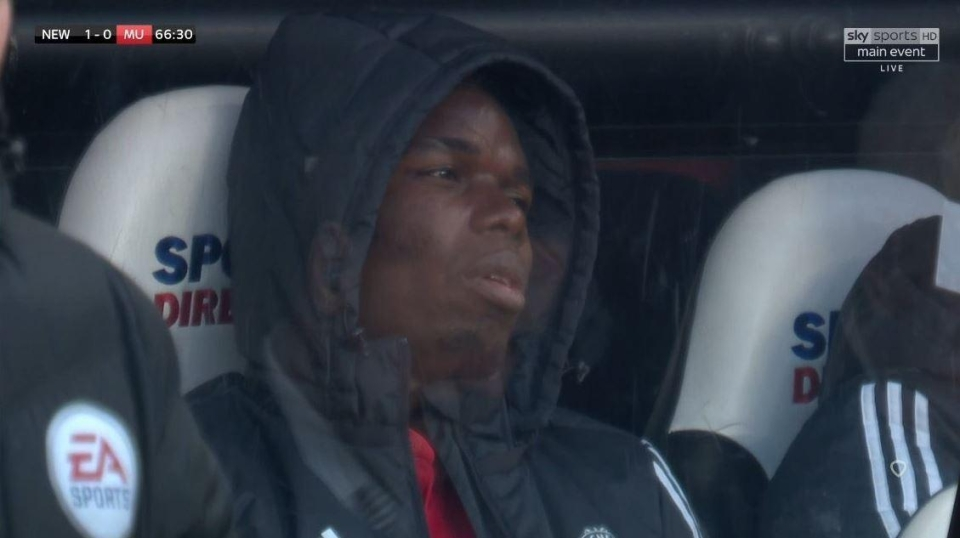 Pogba was visibly distraught at Newcastle