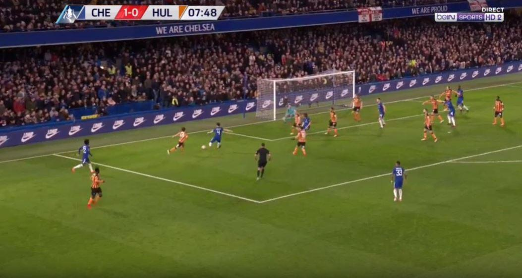 Fabregas unfortunately fluffed his lines to deny Willian a brilliant assist