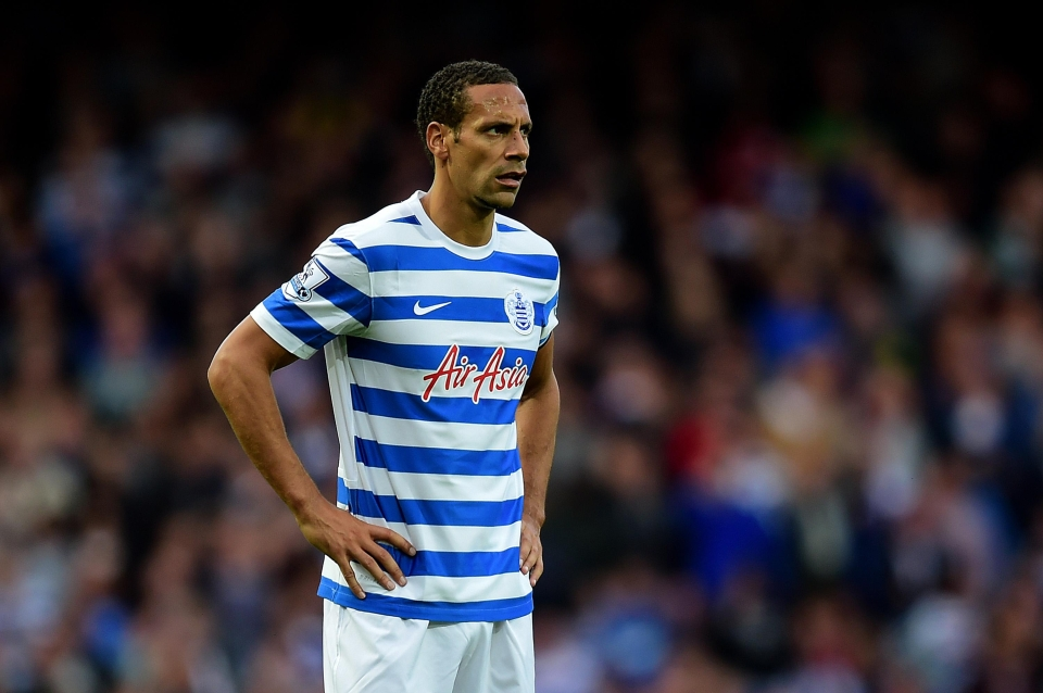 Rio's time at QPR was pretty woeful