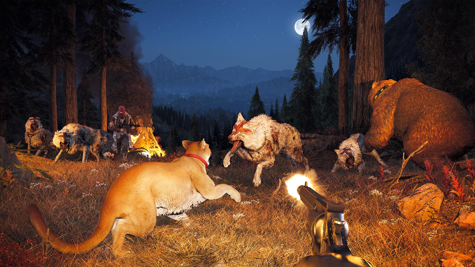 Wolves roam in the hills so be sure to keep your wits about you
