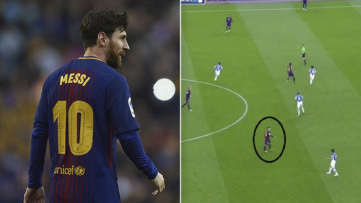 Position Messi
