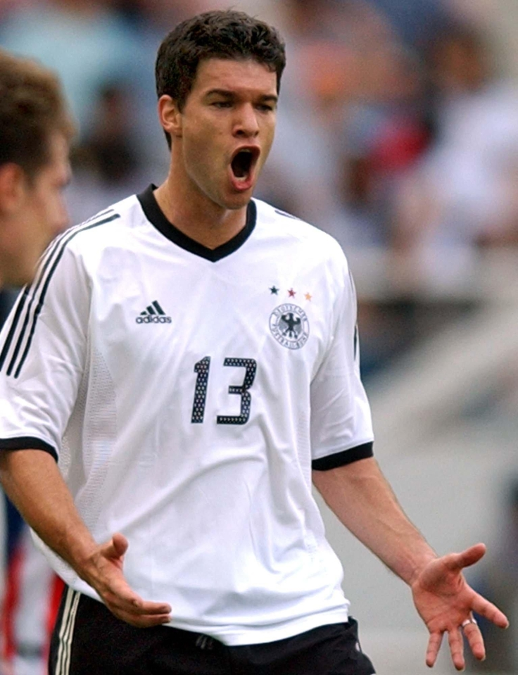 Ballack was part of the Germany side that reached the final of the 2002 World Cup