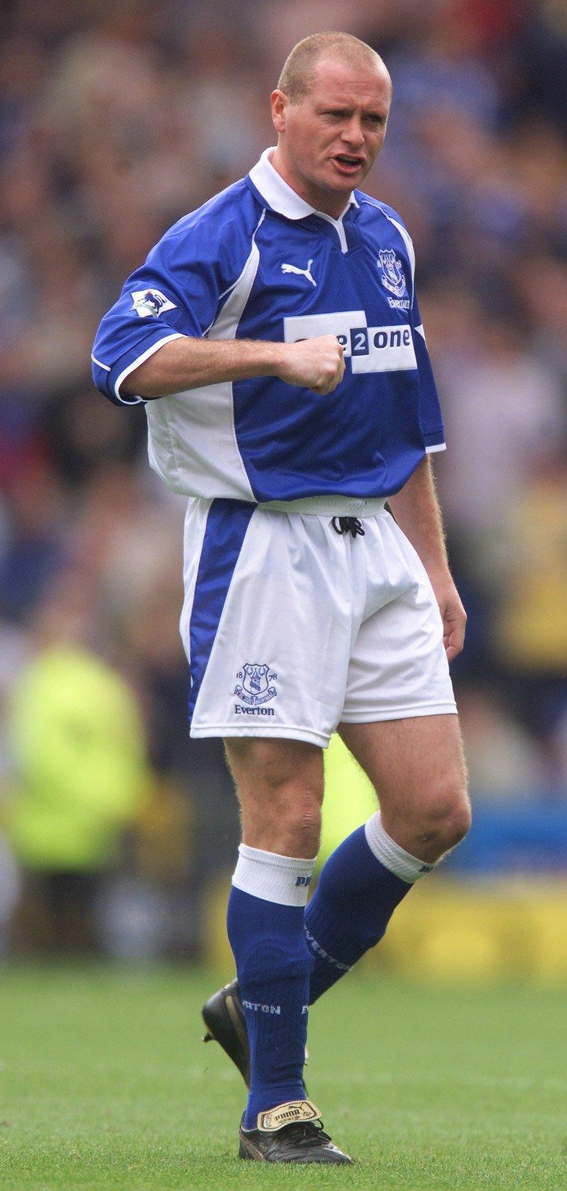 Gazza played for Everton between 2000-2002