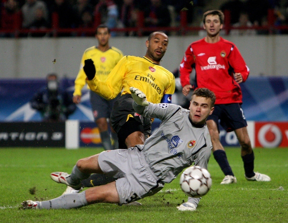 Henry, Walcott and co couldn't put the ball past Igor Akinfeev