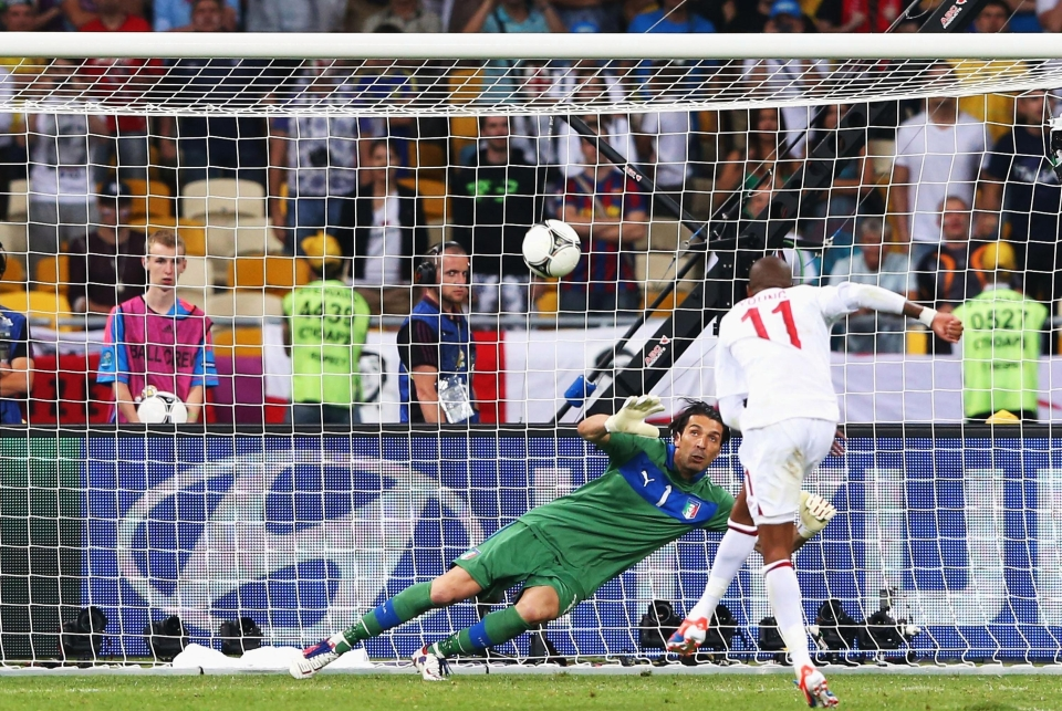A bald Ashley Young absolutely not scoring against Italy at Euro 2012