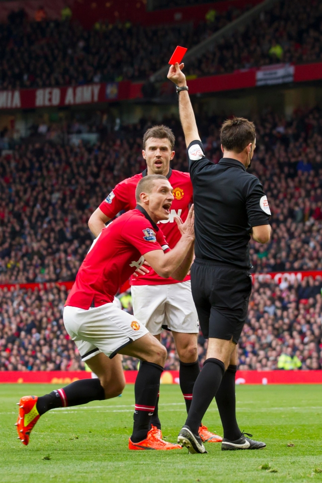 No player has picked up more red cards against a single opponent than Vidic has against the Reds