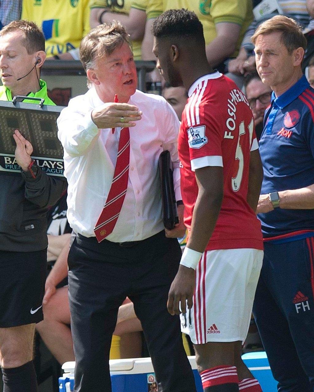 Fosu-Mensah played a handful of games for United under Louis van Gaal