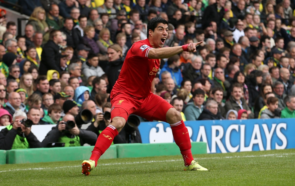 Salah is on course to better Suarez's 31-goal league tally of 2013/14