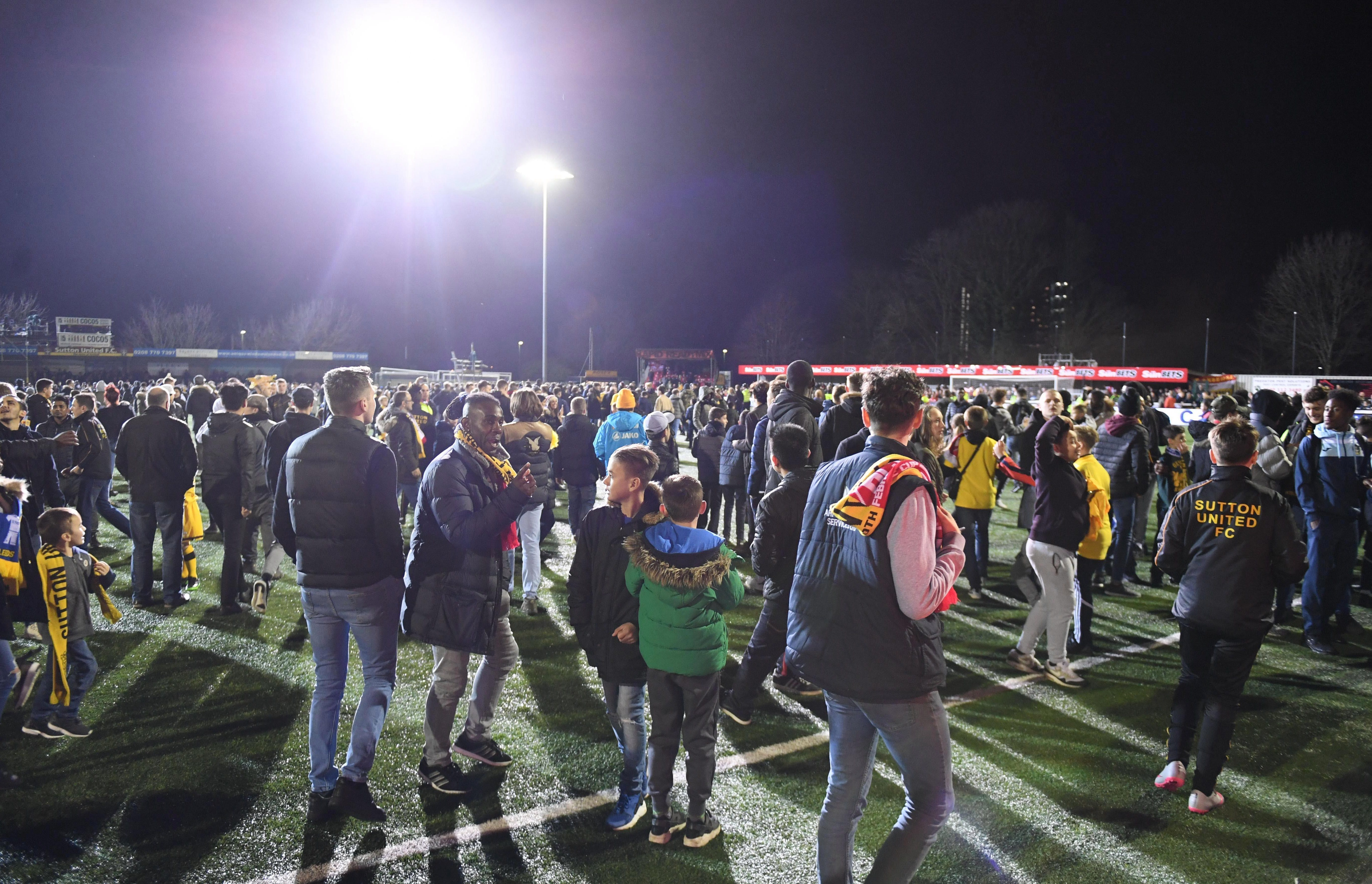 You just don't get this sort of pitch invasion on grass pitches