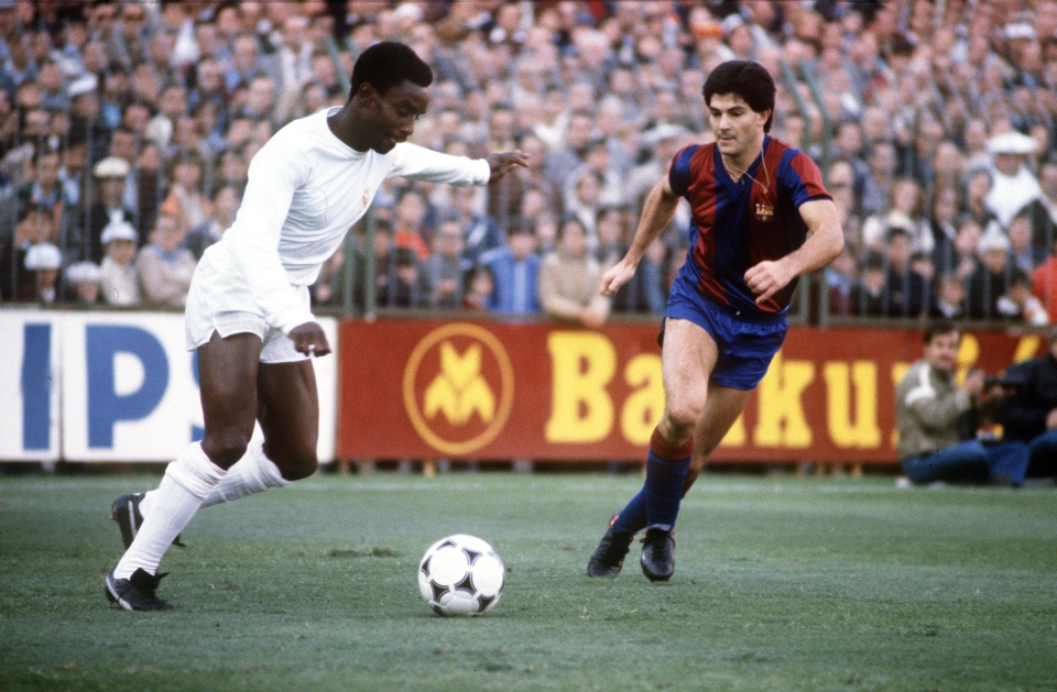 Cunningham in action against rivals Barcelona