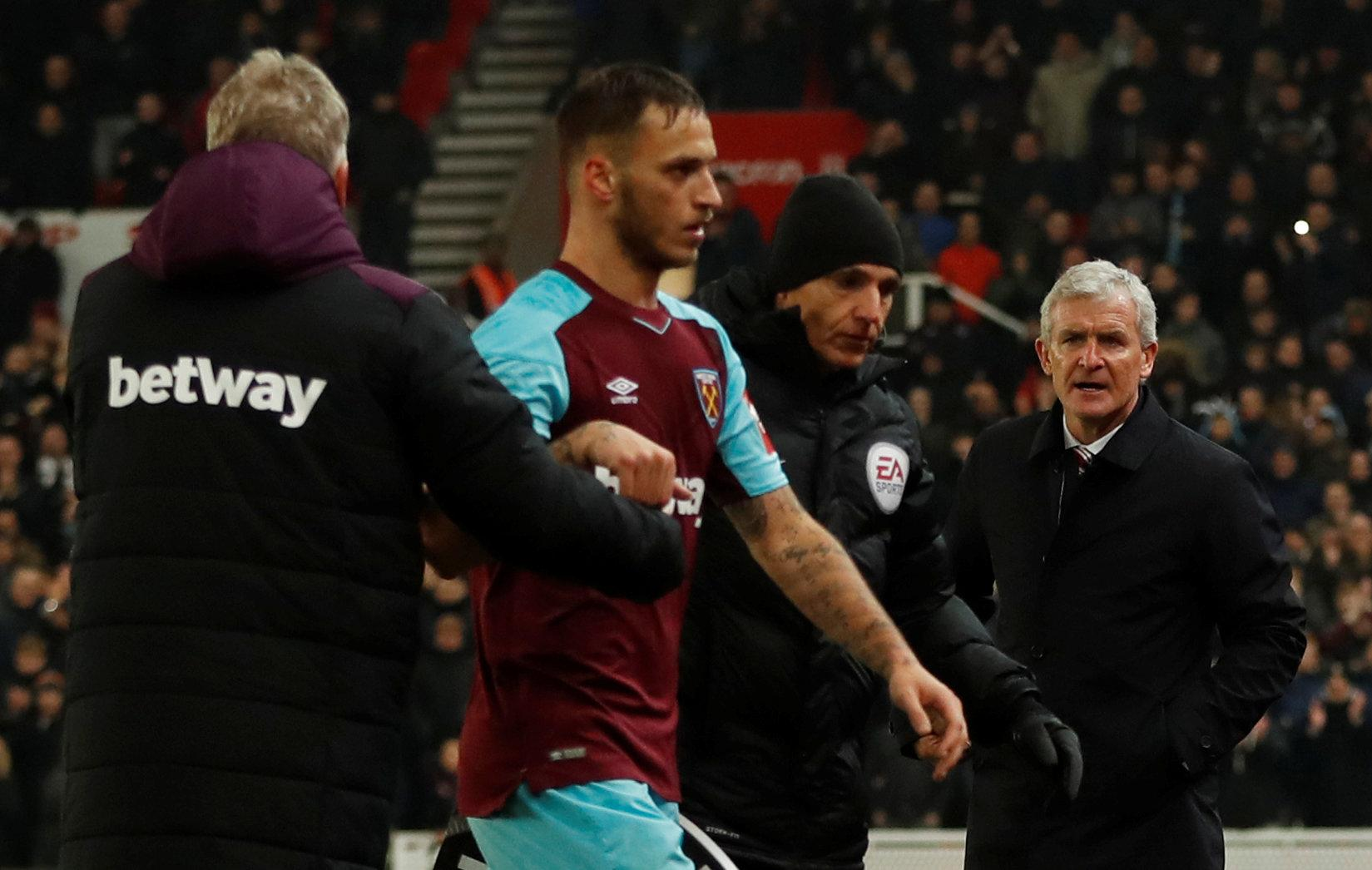 Hughes wasn't happy with him when he scored against Stoke back in December