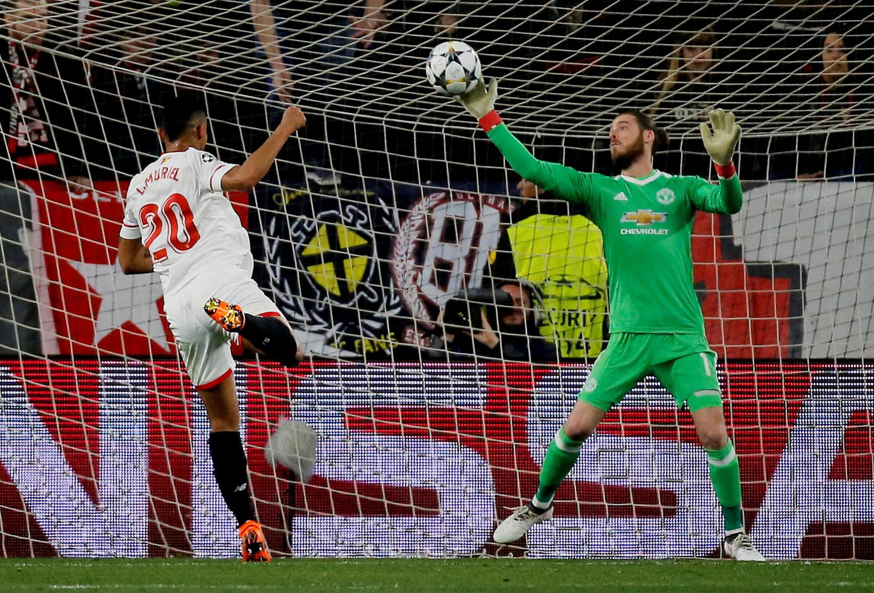 De Gea kept out Muriel with a mind-blowing stop in the Champions League