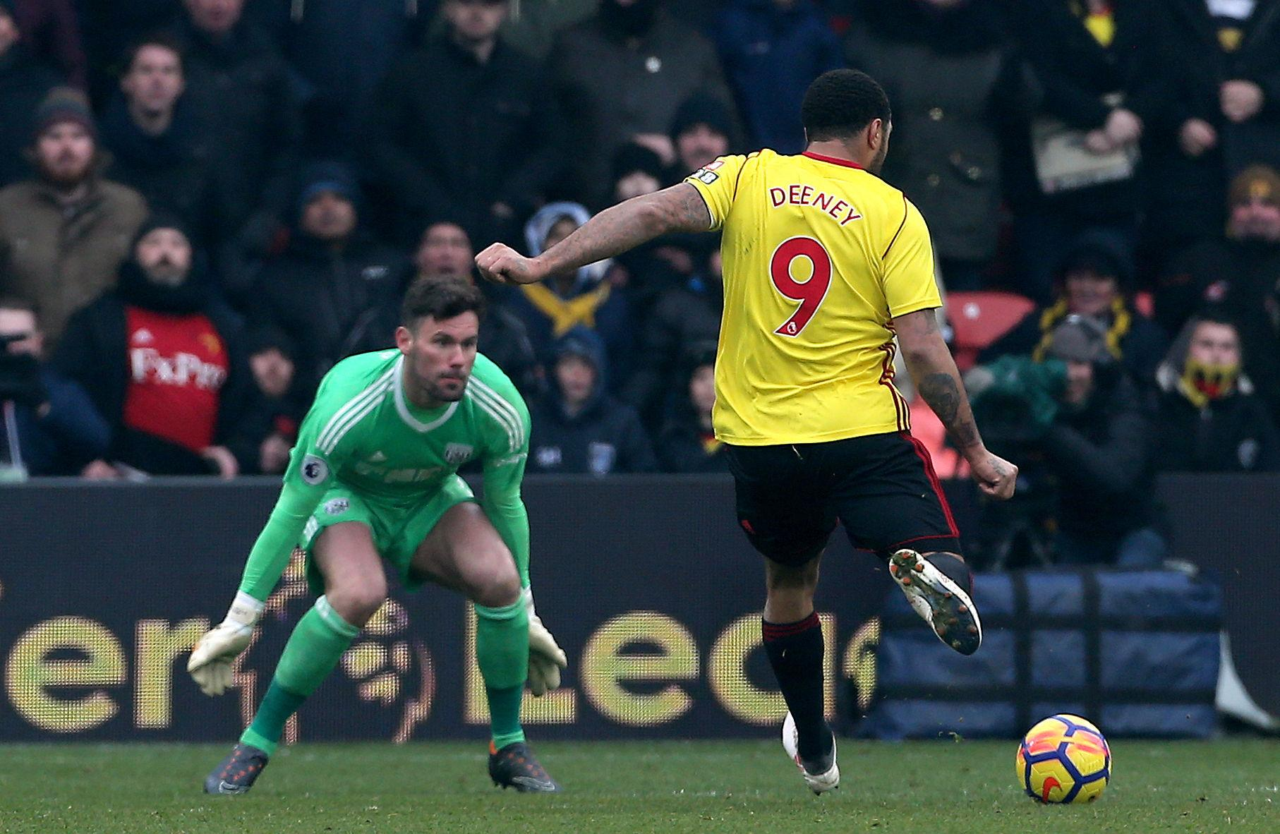 Moments before Deeney's clinical finish