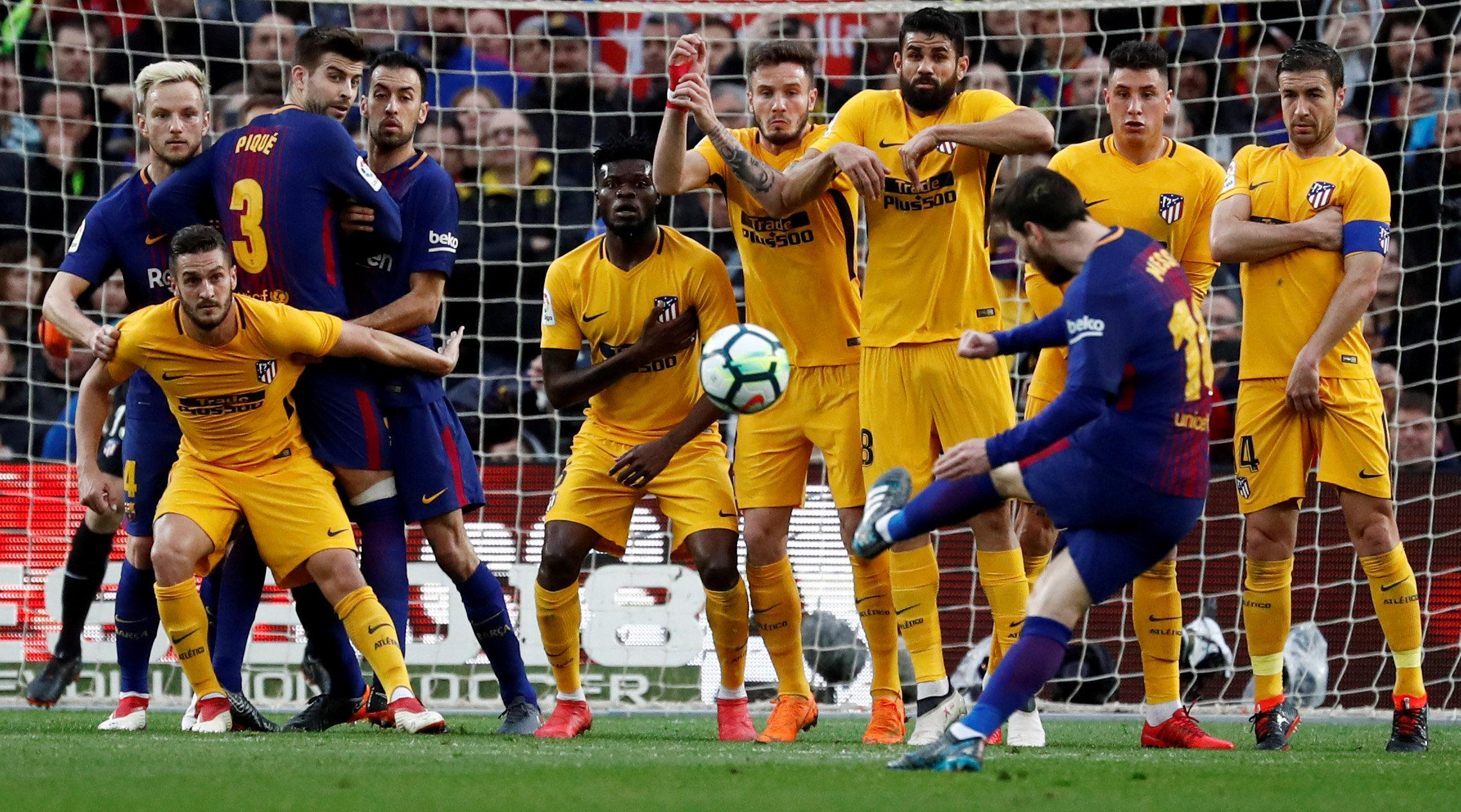 Messi scored the winner against Atleti with a show-stopping free-kick