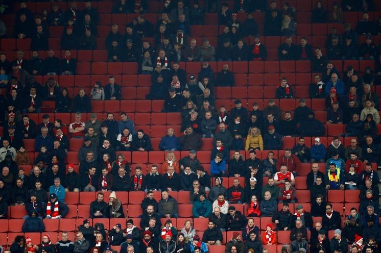 The Emirates last weekend – one of the most expensive tickets in England