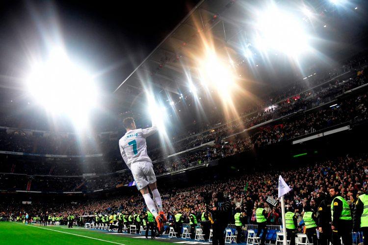 Is he levitating?