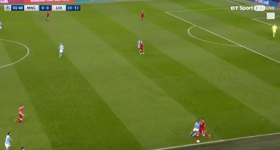 Sterling tussles with van Dijk for the ball and the Dutchman is feeling the pressure