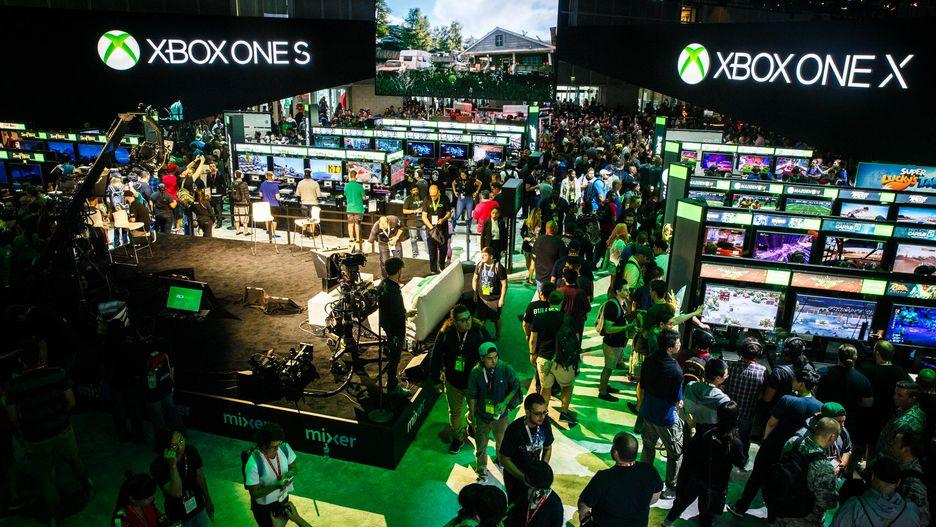 Microsoft's booth at last year's show