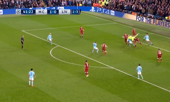 The ball pings to Milner