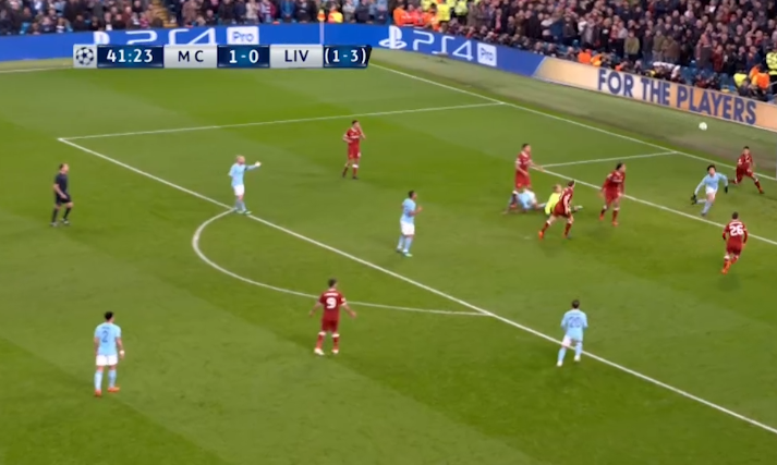 Sane gets into position
