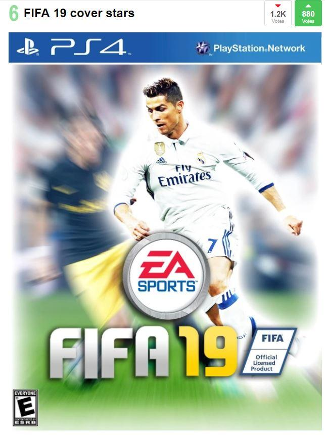 We mocked up a FIFA 19 cover with Ronaldo on it
