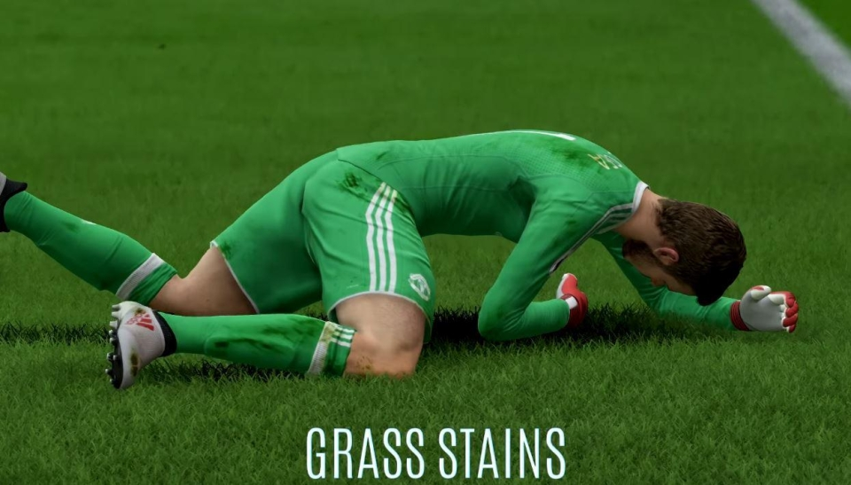 Players get covered in stains when they fall over