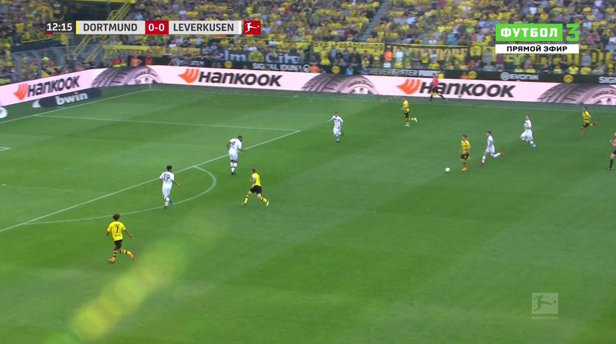 Pulisic dribbled the ball into the final third…