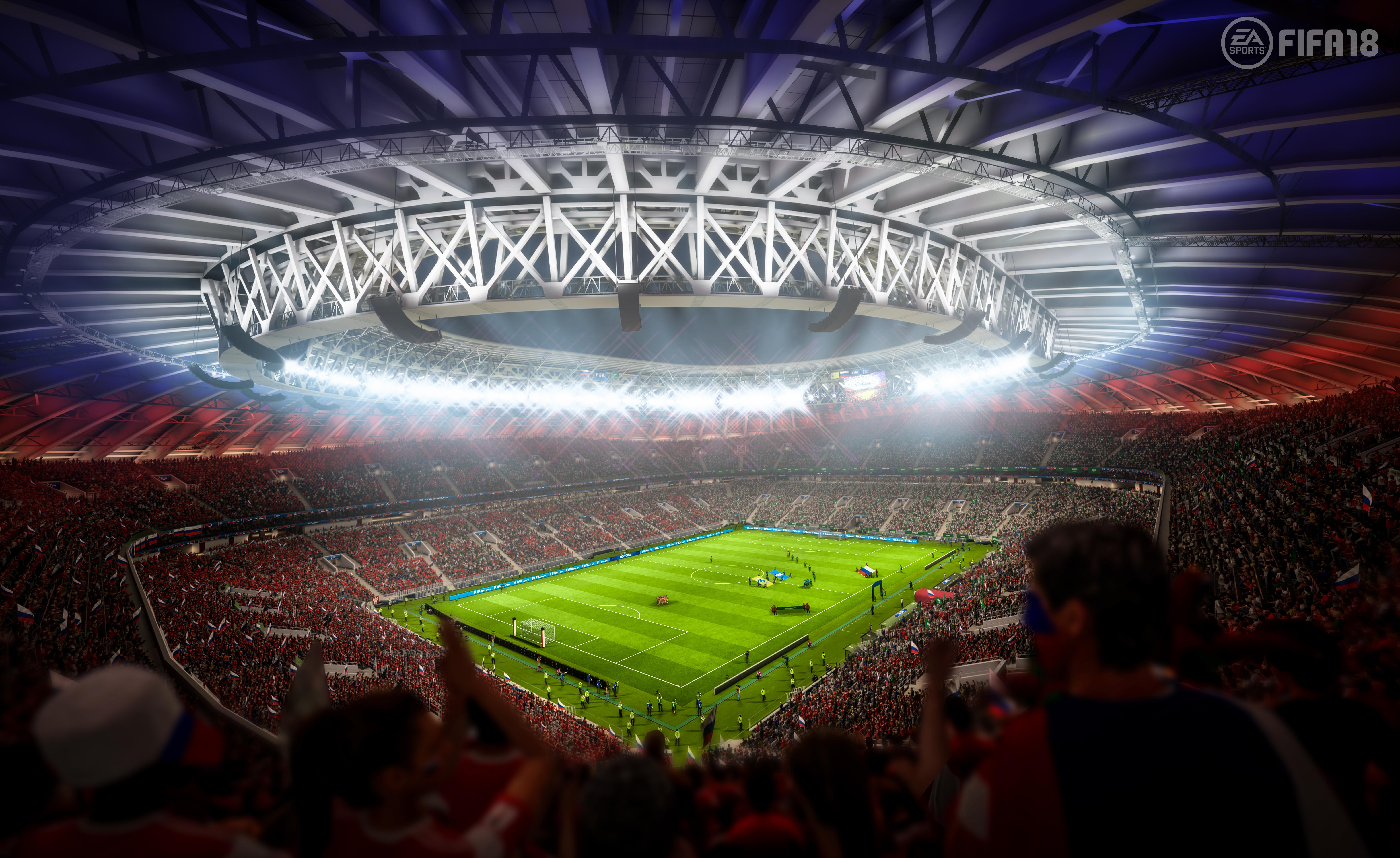 The Luzhniki stadium is just one of the arenas that will arrive in the free update