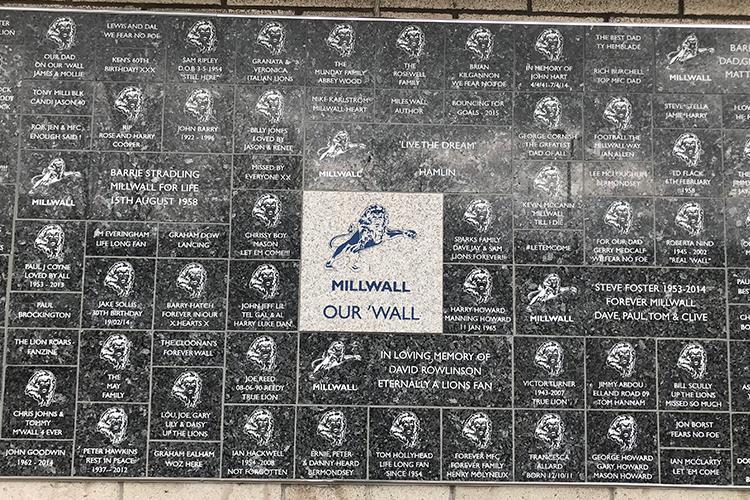 A Millwall wall