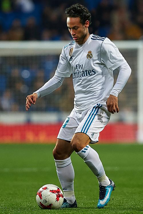 He suits a Real Madrid kit