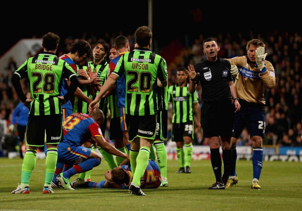 The striker injured his knee back in the play-off tie back in 2013