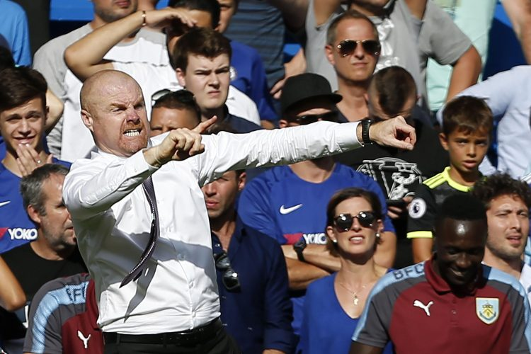 Dyche hasn't quite mastered the dab yet