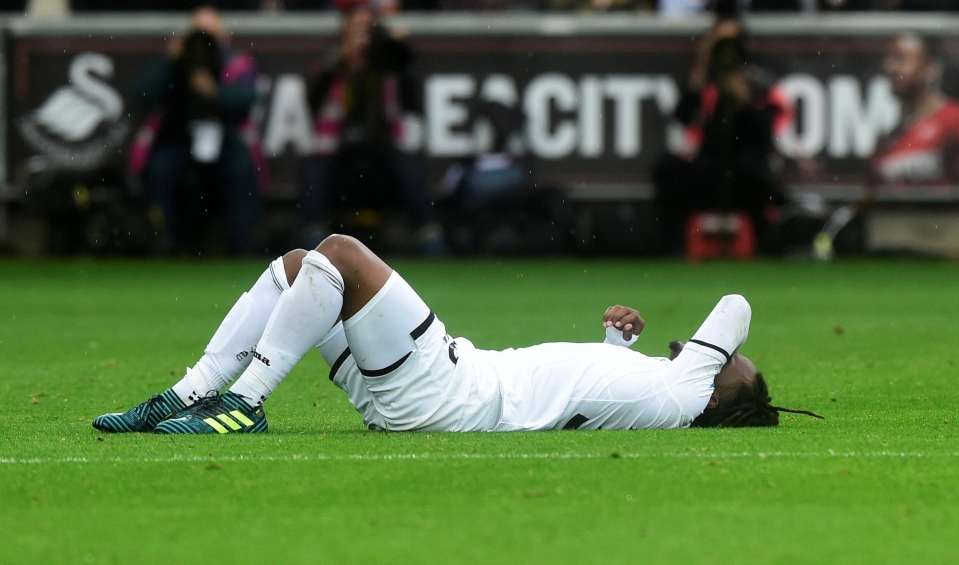 A familiar sight in his Swansea career