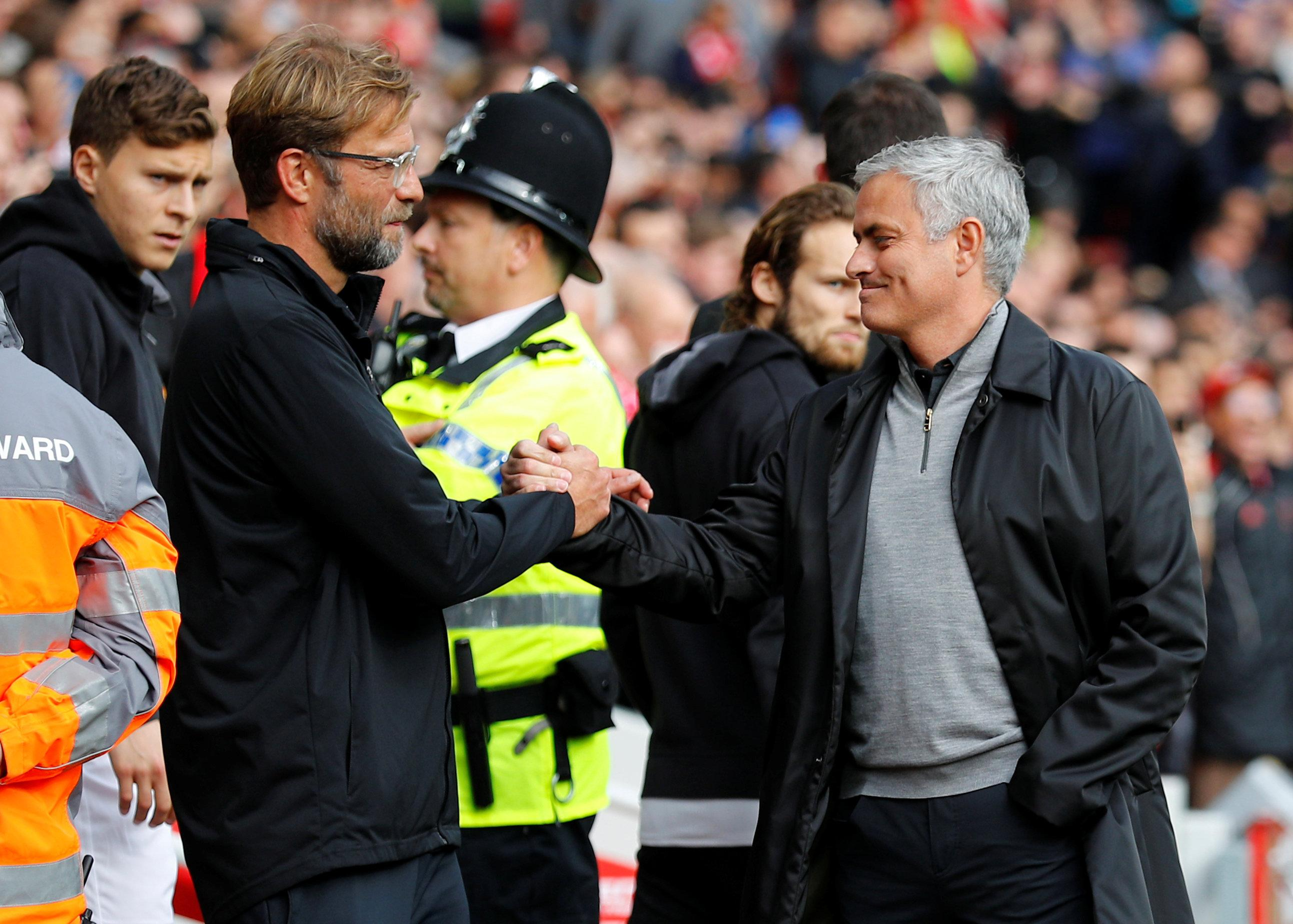 Klopp and Mourinho clashed for the first time this season at Anfield