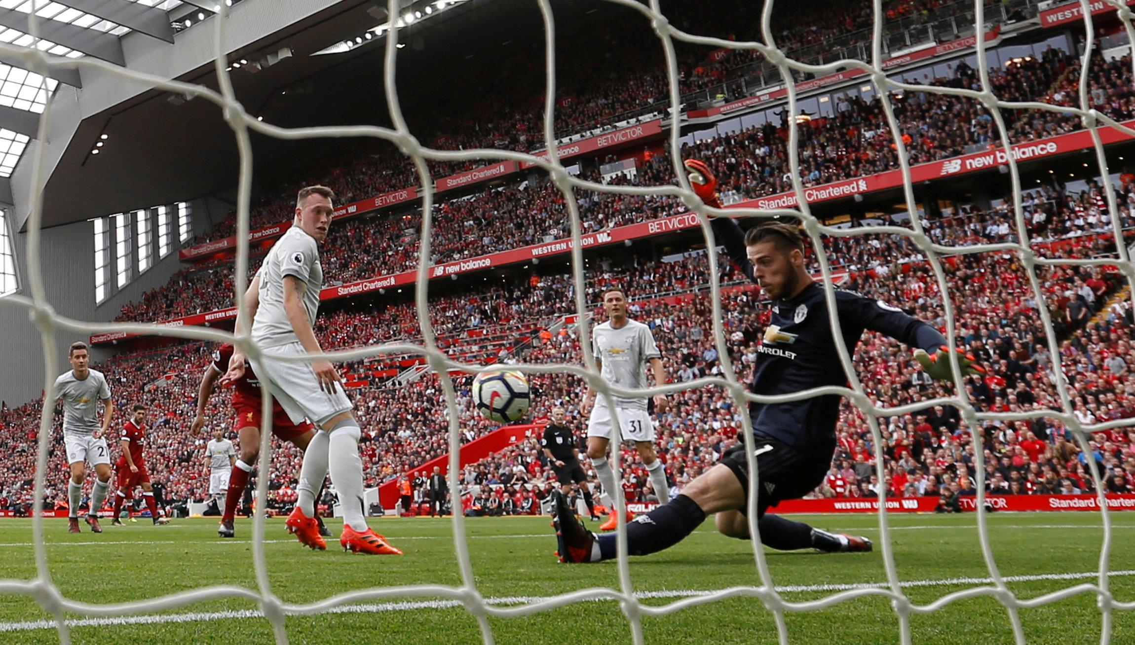 De Gea pulled off a miraculous save from Matip