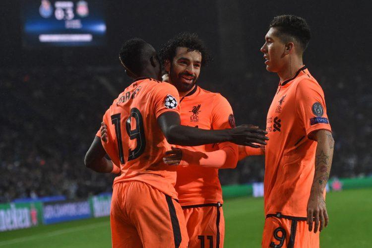 Salah + Firmino + Mane = goals goals goals