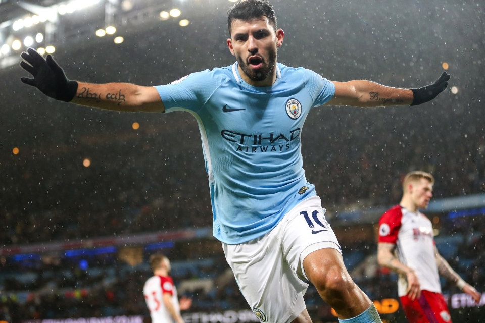 Sergio Aguero will be looking to score first-ever goal at Anfield