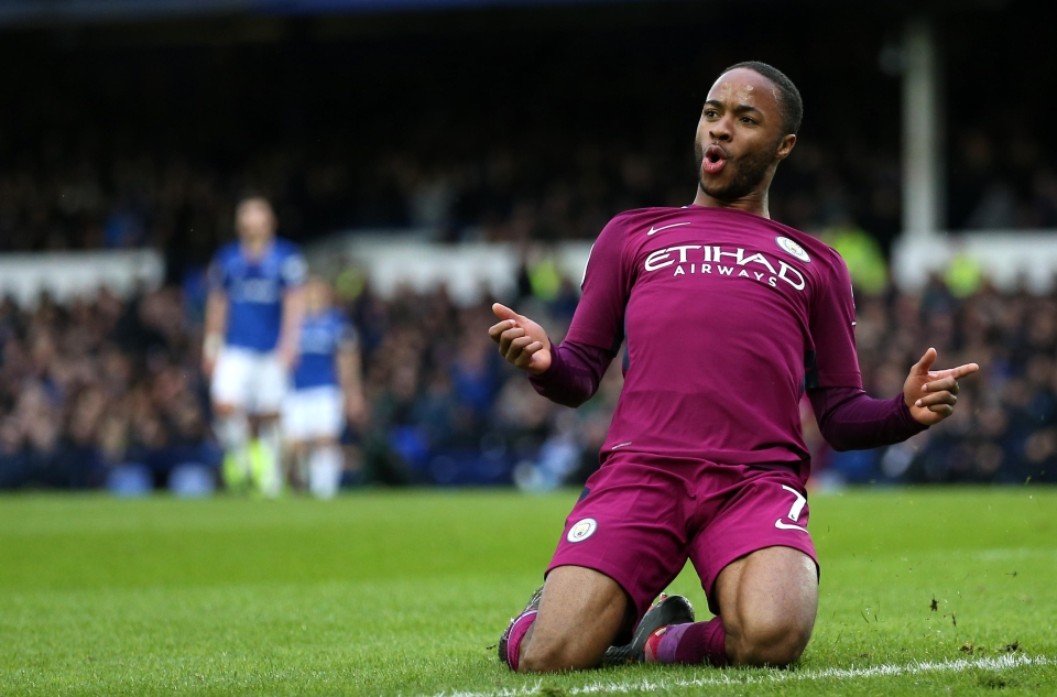 Sterling scored his 16th Premier League goal of the season on Merseyside at the weekend